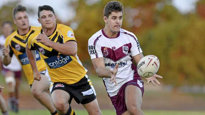 MOVED ON: Bundaberg Bears player Trent Seeds in action for the side last year in the 47th Battalion in Toowoomba.