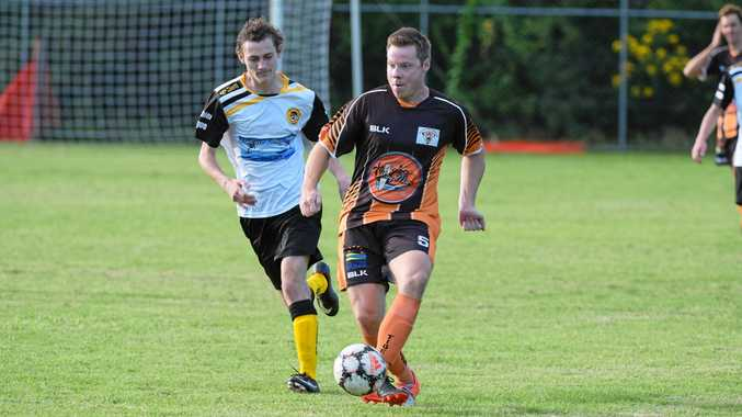 BIG WIN: Coffs Coast Tigers left-back Trent Lakeman plays out from the back on Saturday.