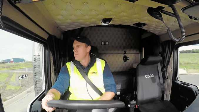 FATIGUE STUDY: TGR Transport boss Tom Allen participated in the NTC's world-first research.