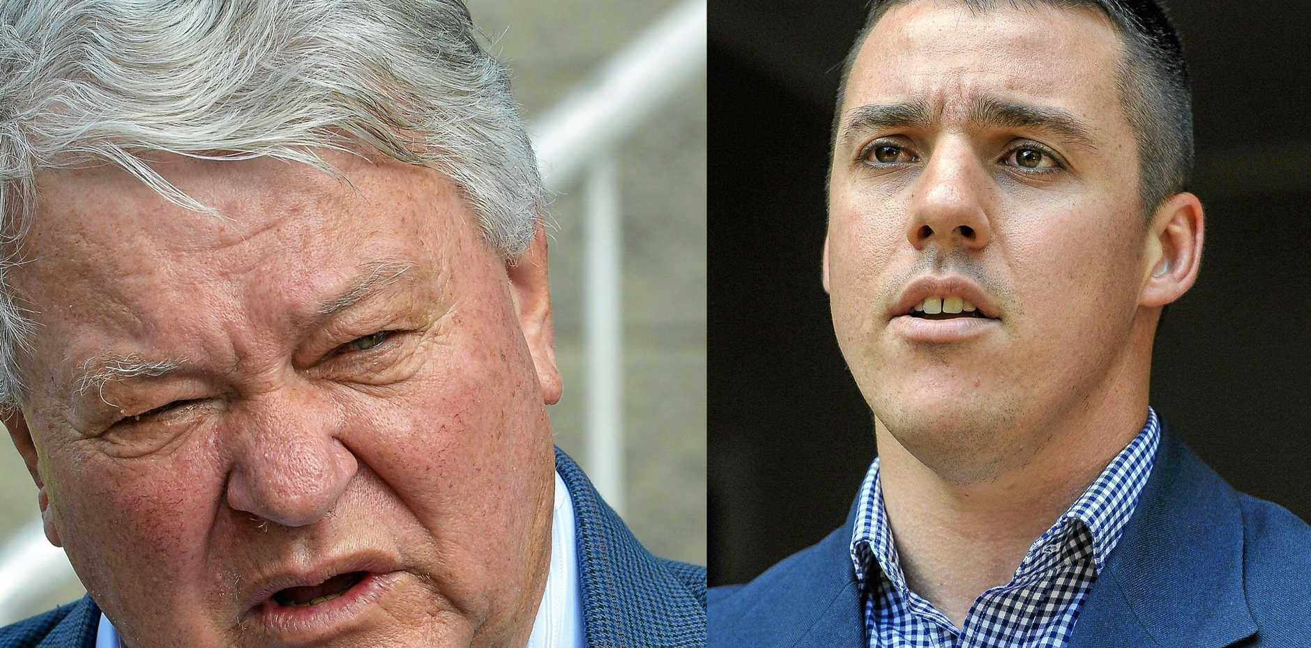 HEAD TO HEAD: Federal Member for Flynn Ken O'Dowd and Labor's candidate for Flynn Zac Beers.