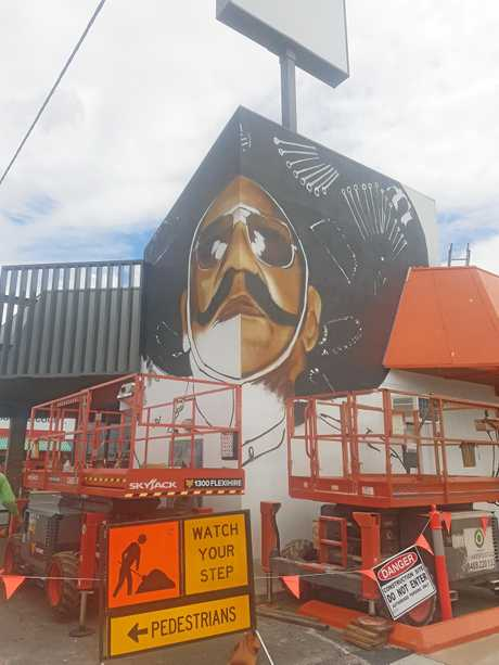 Out There Co. create the Harry MiMi mural on Gladstone Road