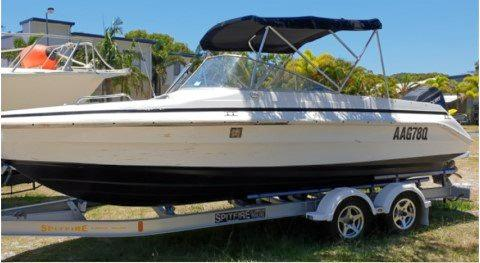 MISSING: Police are appealing for anyone who may have seen this Mustang Powerboat to come forward. The boat was last seen at Rainbow Beach outside a private residence on April 14.