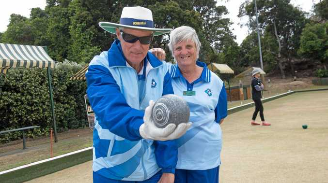 HELPING HAND: Vision impaired bowler Wayne Thompson and wife Lynne. Cherry Street Sports bowling club is holding a Come and Try Day for vision impaired bowler next month.