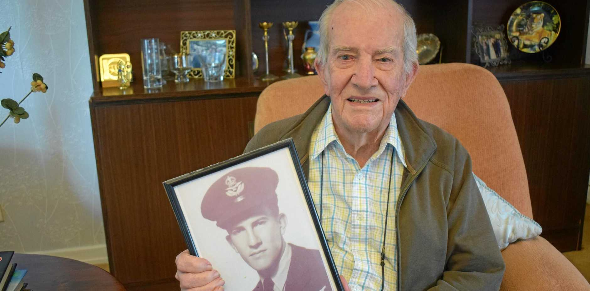 HIGHS AND LOWS: WWII veteran Vernon Lilley recalls his time in the Royal Australian Air Force.