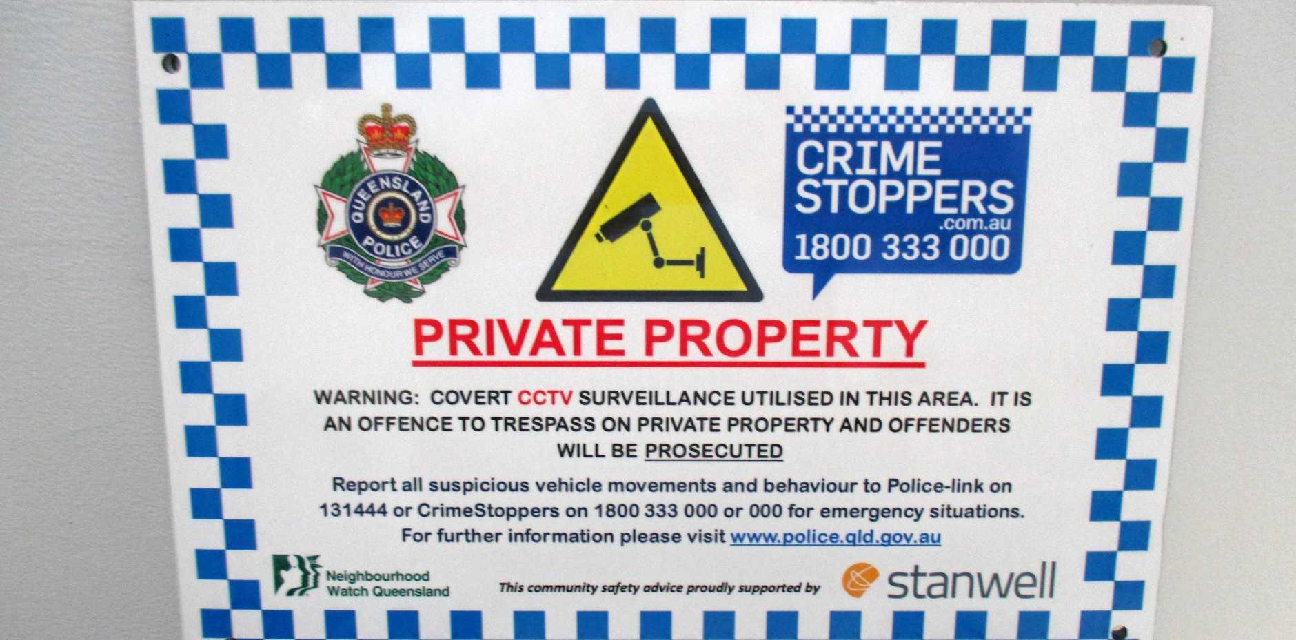 Police signs deter trespassers on rural properties | South Burnett Times