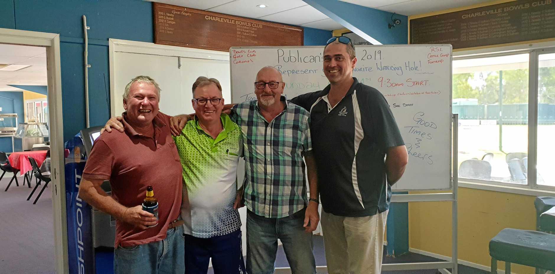 Rusty Russell, Ian Tyack, Bob Branson and Damon Moody.