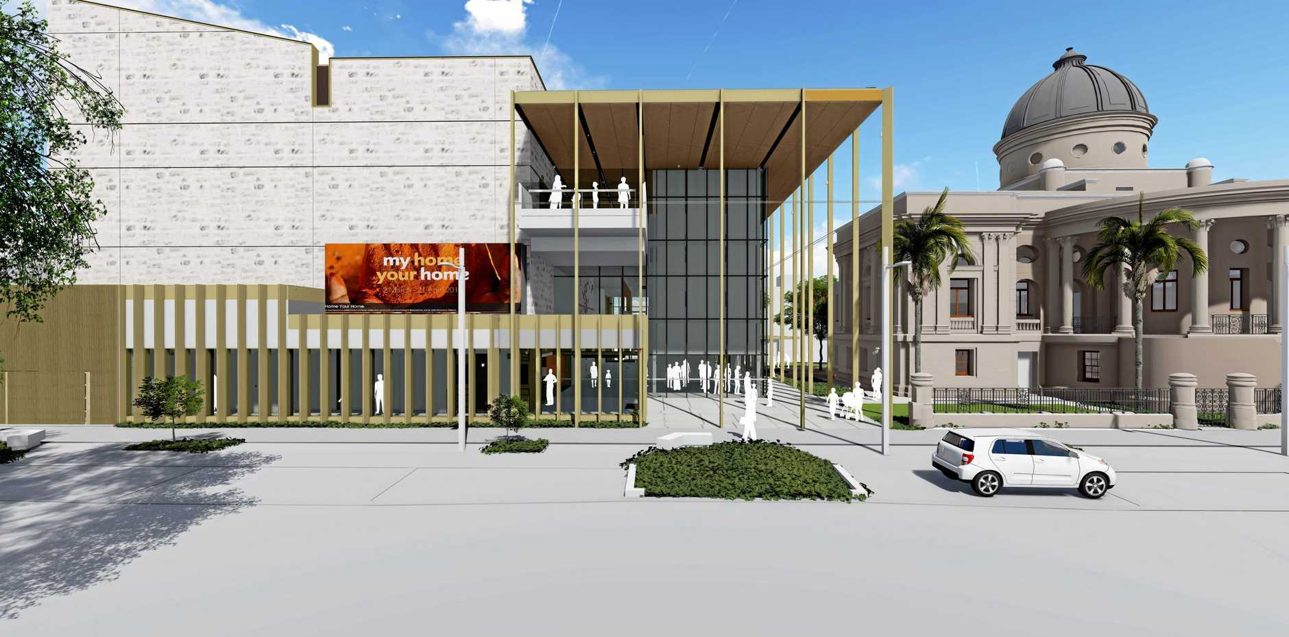 CONSTRUCTION TO COMMENCE: Rockhampton Art Gallery view from Quay St.
