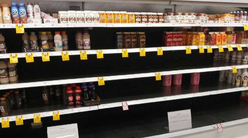 Customers have noticed empty shelves where Farmers Union drinks should be. Picture: Facebook