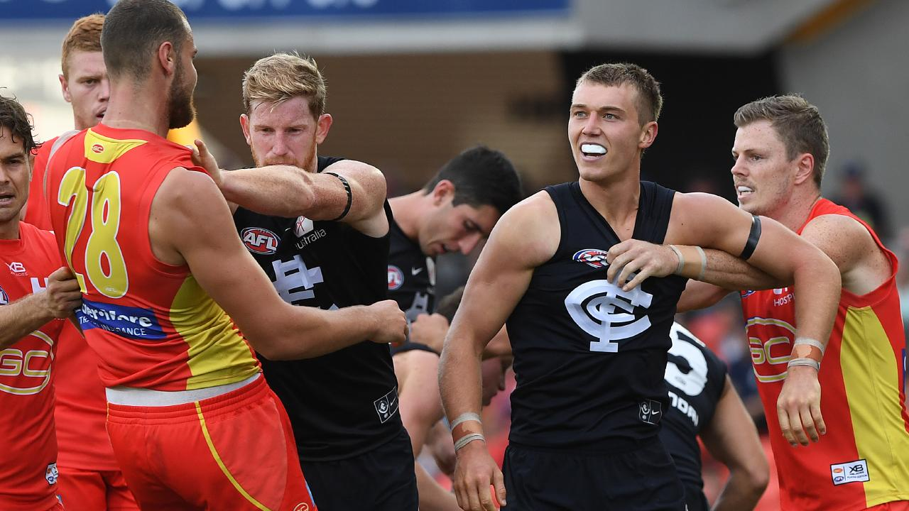 Patrick Cripps did everything he could against the Suns. Picture: AAP Images