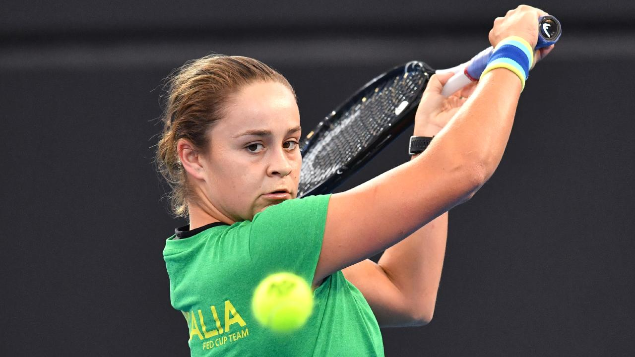 Ash Barty is determined to lead Australia to victory in the Fed Cup semi-final against Belarus. Picture: AAP