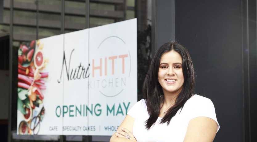 Tam Lord outside her new Nutri Hitt cafe in Albion. Picture: Claudia Baxter/AAP