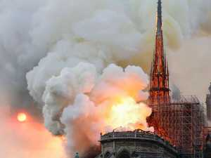 Notre Dame Cathedral ravaged by fire in Paris