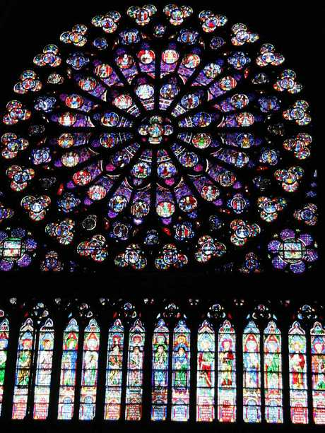 The Rose Window in Notre Dame. Picture: Mike Batterham