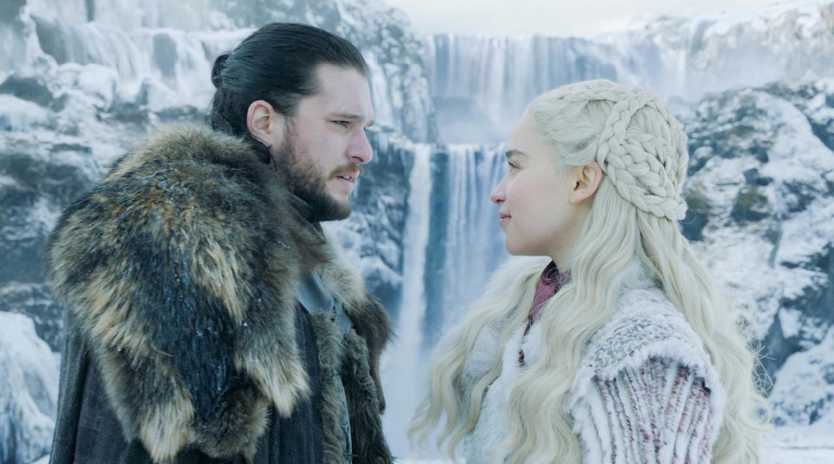 Jon Snow and Dany in episode one of season 8 of Game Of Thrones. Picture: HBO/Foxtel
