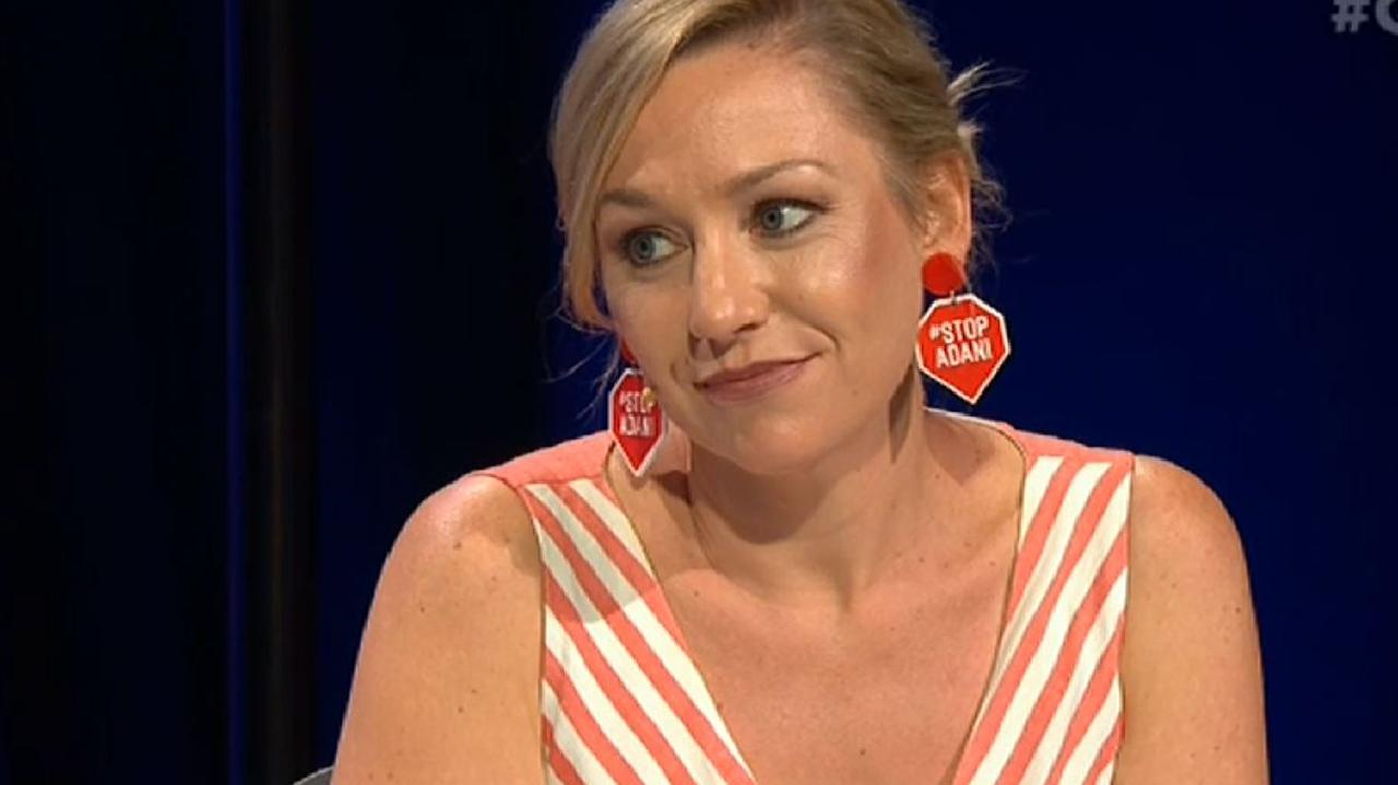 Larissa Waters pulled no punches in taking on James McGrath. Picture: ABC