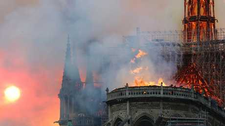 The fire in Notre Dame.