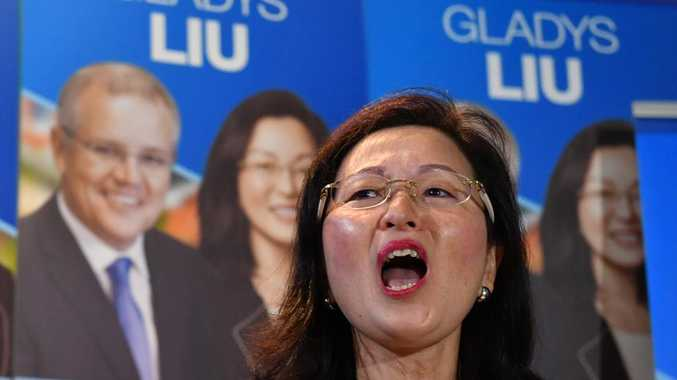 Gladys Liu fired up at her campaign launch.
