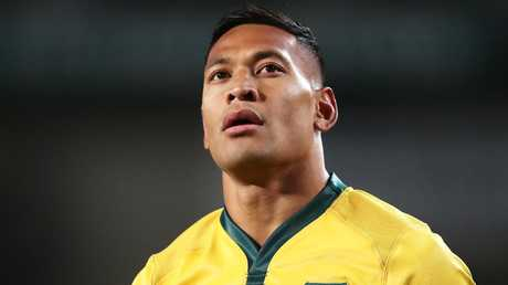 Wallabies star Israel Folau is expected to challenge the breach notice issued by Rugby Australia. Picture: Getty Images