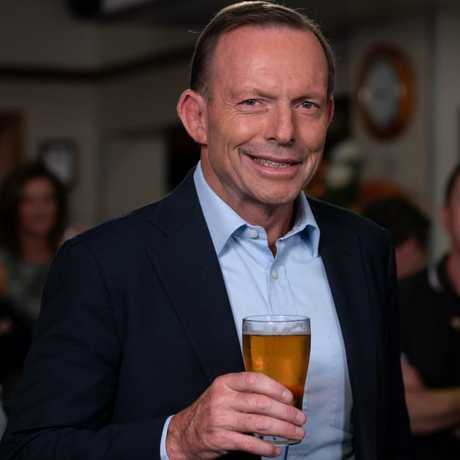 Tony Abbott is here to help. Picture: Monique Harmer