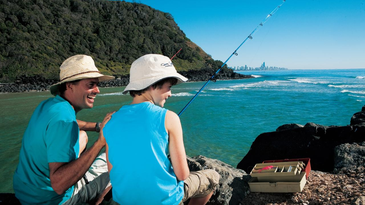 HOOKED: Tallebudgera Creek Credit: Tourism and Events Queensland