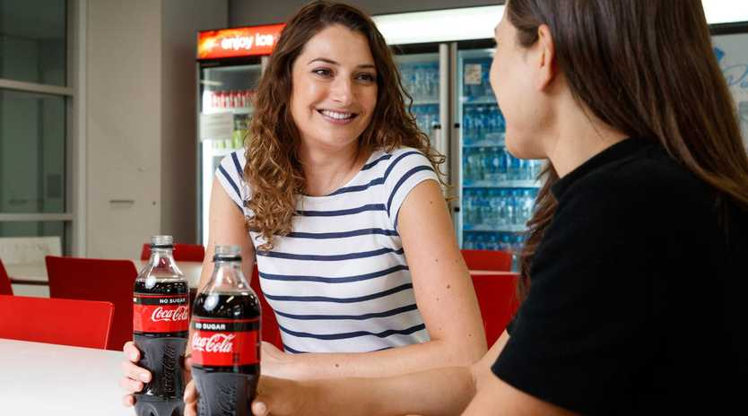Coca-Cola Australia and Coca-Cola Amatil have revealed their bottles will now be made with more recycled plastic. Picture: Coca-Cola Australia