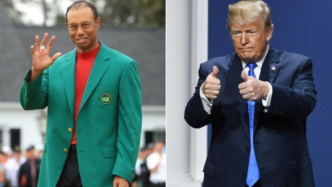Tiger Woods has been congratulated by Donald Trump, and a bigger reward is on the way.