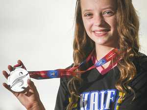 BORN TO RUN: Gladstone's Loghan Gonzales, 12, won the