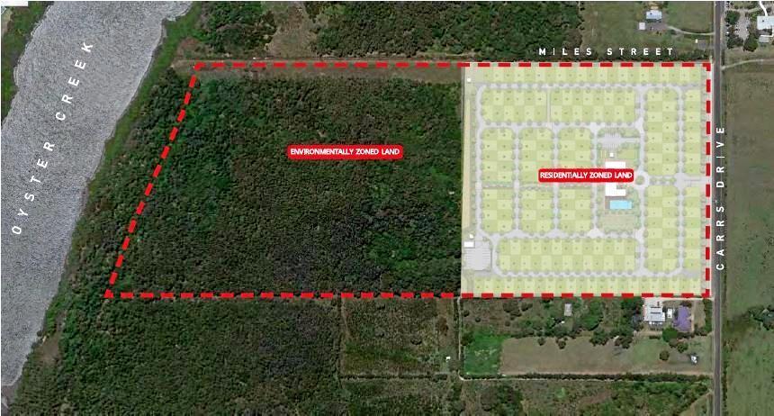 BIG PLAN: A site plan of the Carrs Drive development.