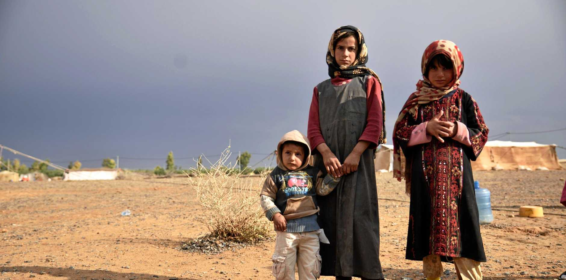 Local children caught up in the humanitarian crisis in Syria.