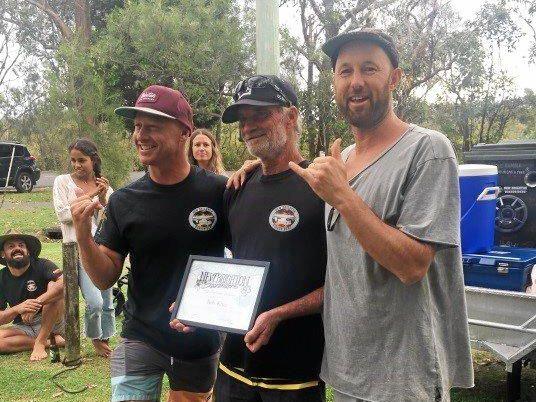 LIFER: Rob King awarded Life Membership of the New Brighton Boardriders Club.