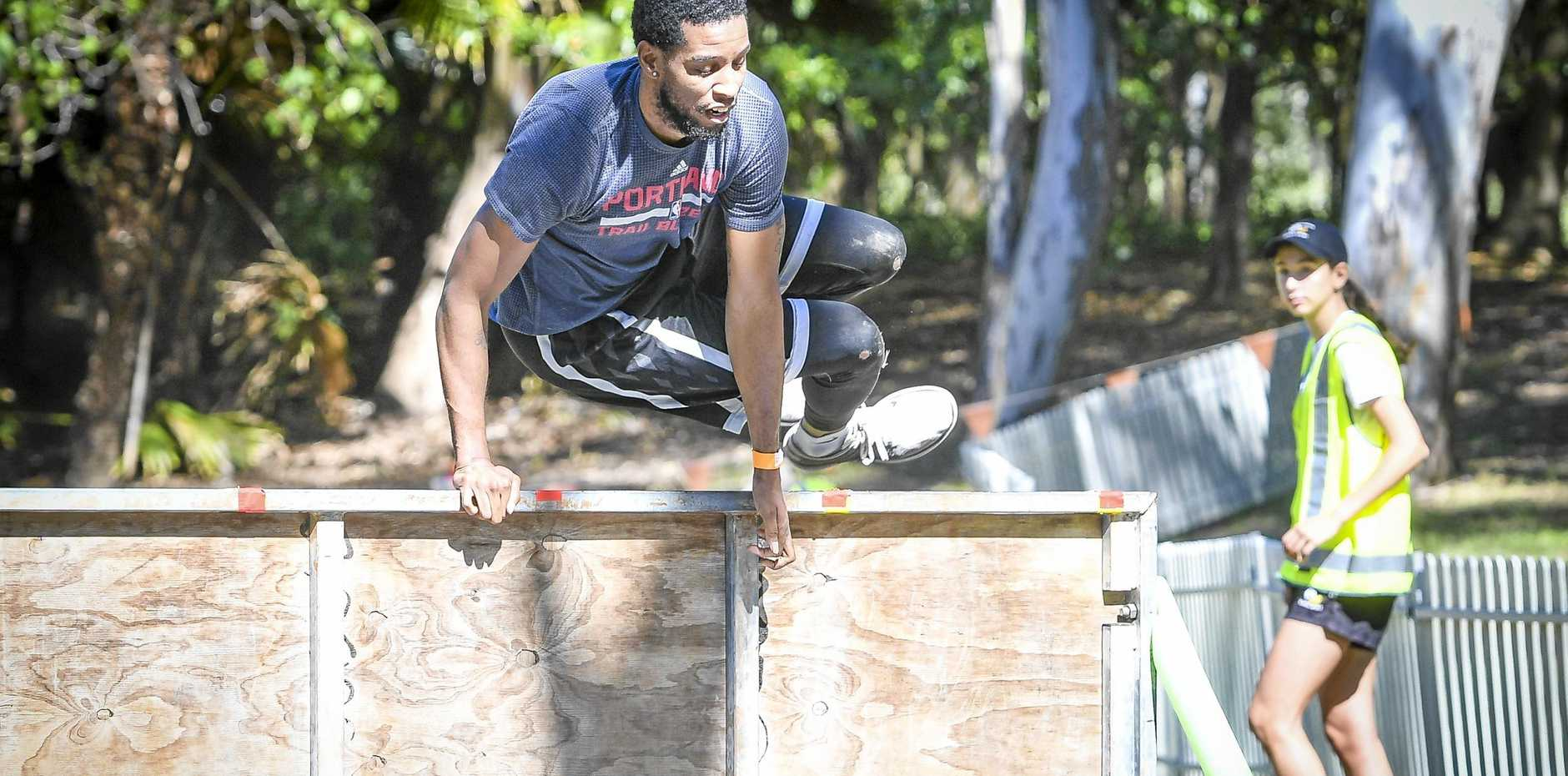 Taylor Young had the height to tackle some of the obstacles.