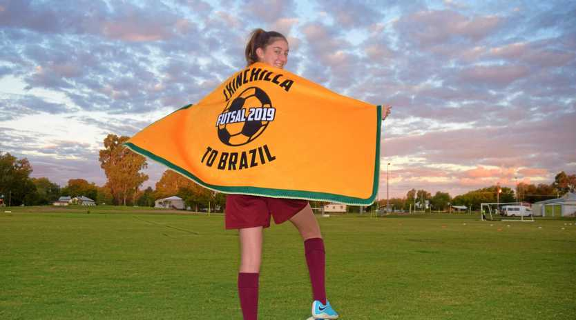 DREAM EXPERIENCE: Chinchilla's Gabby Hicks is heading to Brazil in August to play for the Australian under 15 girls futsal team.