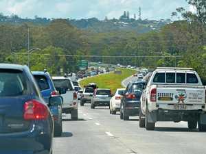 Traffic blocked, man hospitalised after Bruce Hwy crash