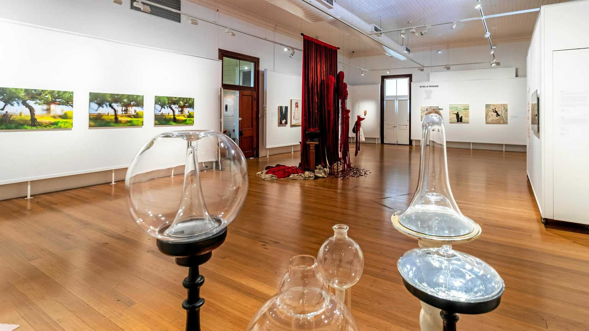 ECLECTIC DISPLAY: The Rites of Passage exhibition is in its final days at Gympie Regional Art Gallery.