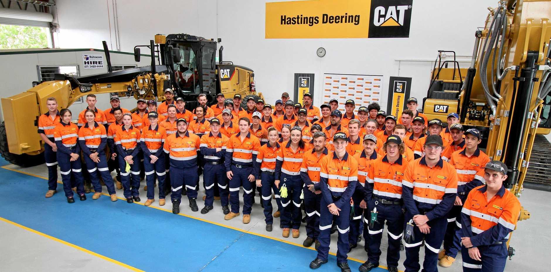 HIGH DEMAND: Hastings Deering apprentices in 2019.