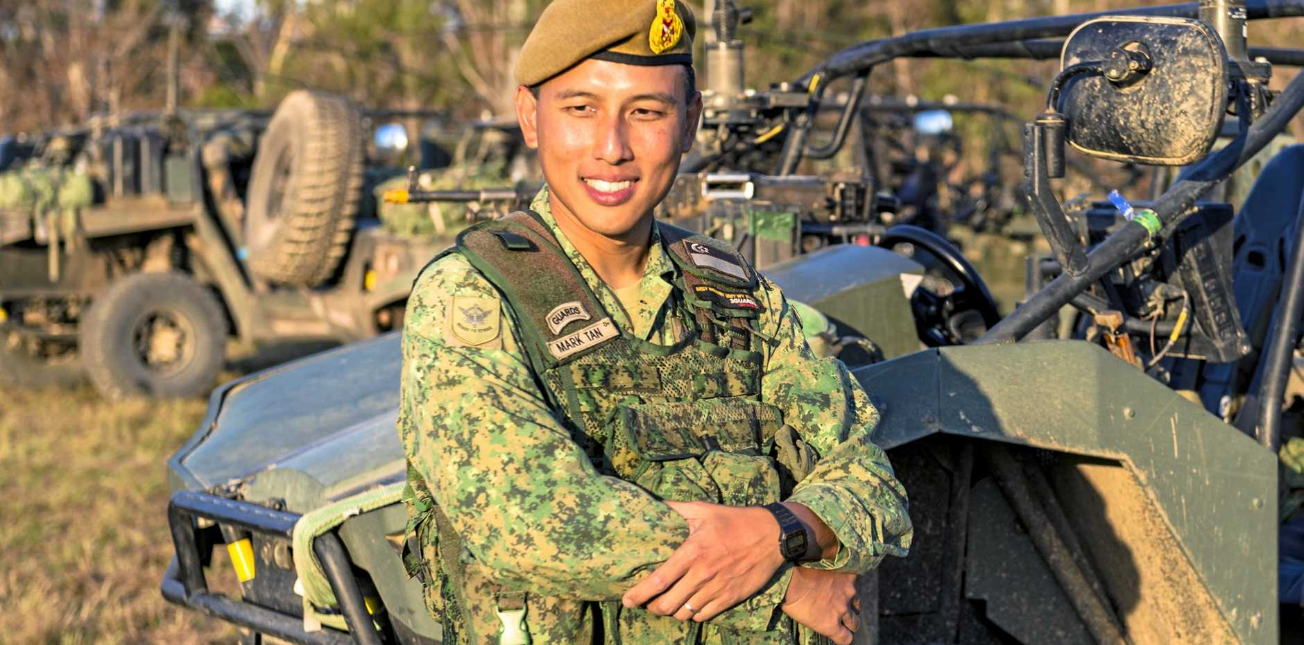 MASSIVE EXPANSION: Brigadier Mark Tan from the Singapore Armed Forces at Shoalwater Bay during Exercise Wallaby in 2017.