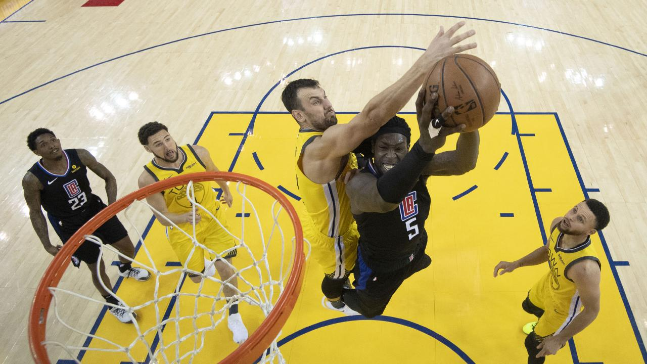 Andrew Bogut will need to step up to stop the likes of Clippers' beast Montrezl Harrell. Picture: AP