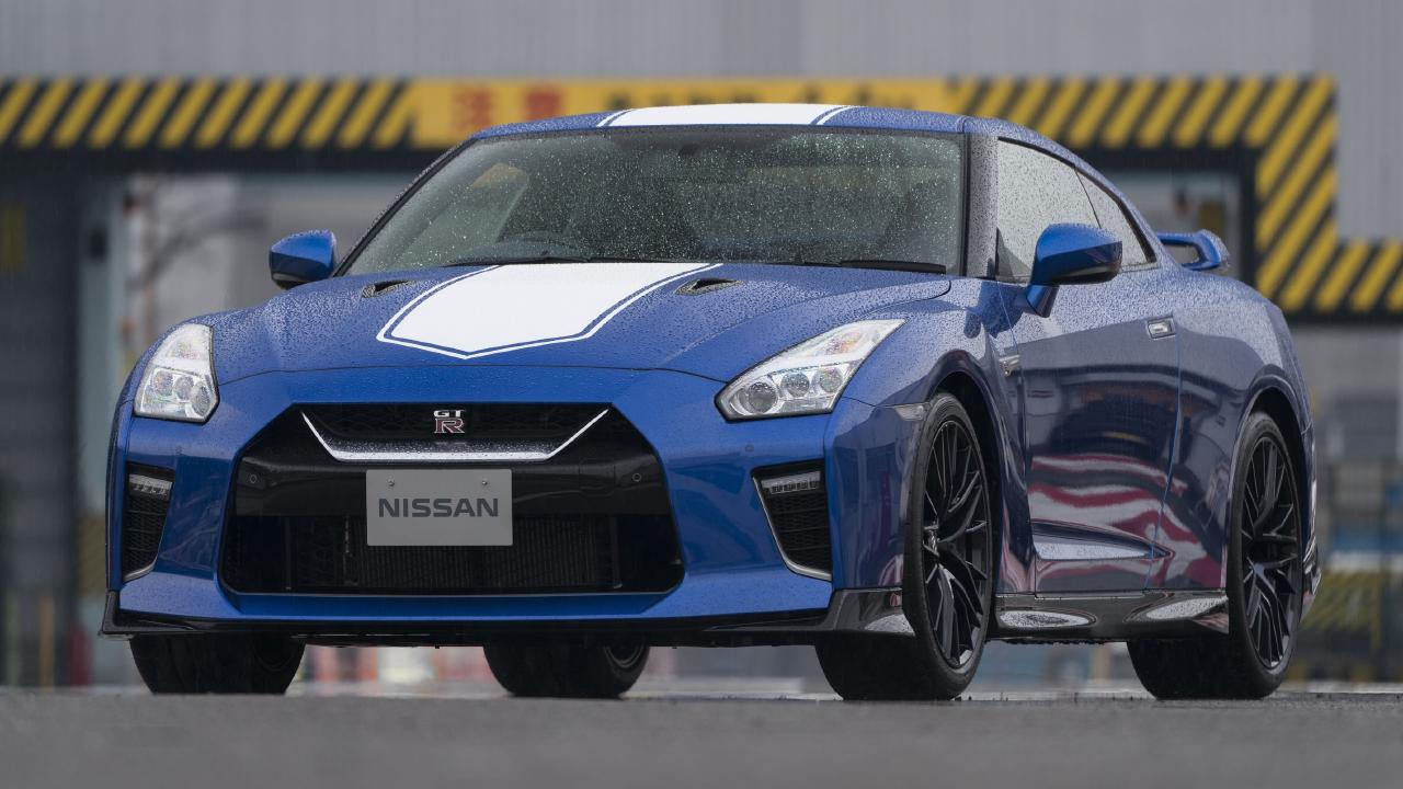 Bayside blue: Reprised colour for the 2020 Nissan GT-R.