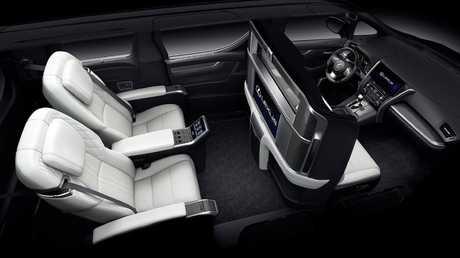 The Lexus LM350 resembles a first class cabin.