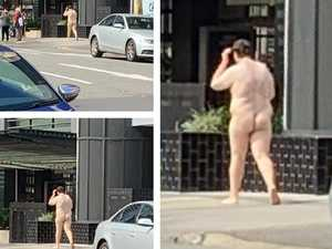 Man's naked lunchtime CBD stroll