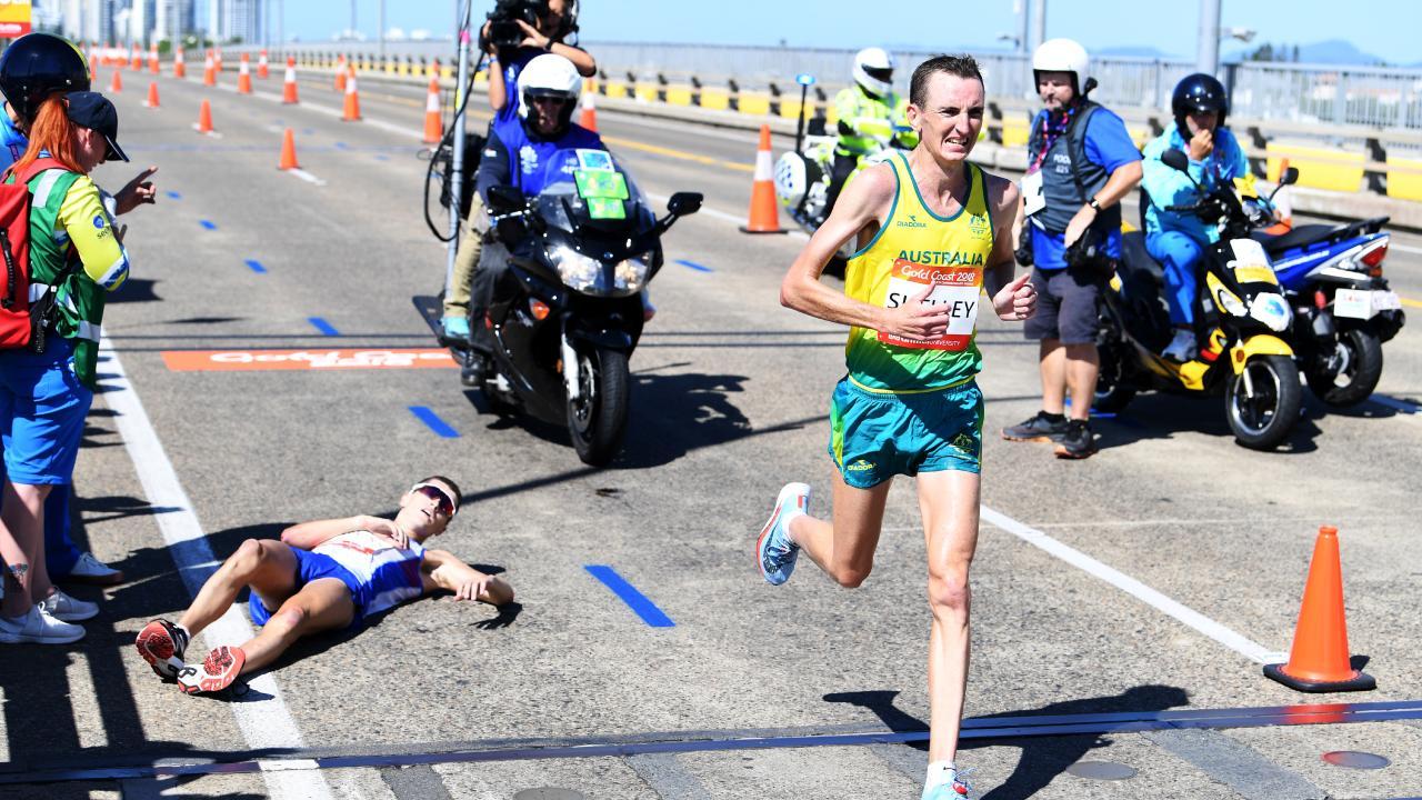 Callum Hawkins collapsed  during the Commonwealth Games men's marathon