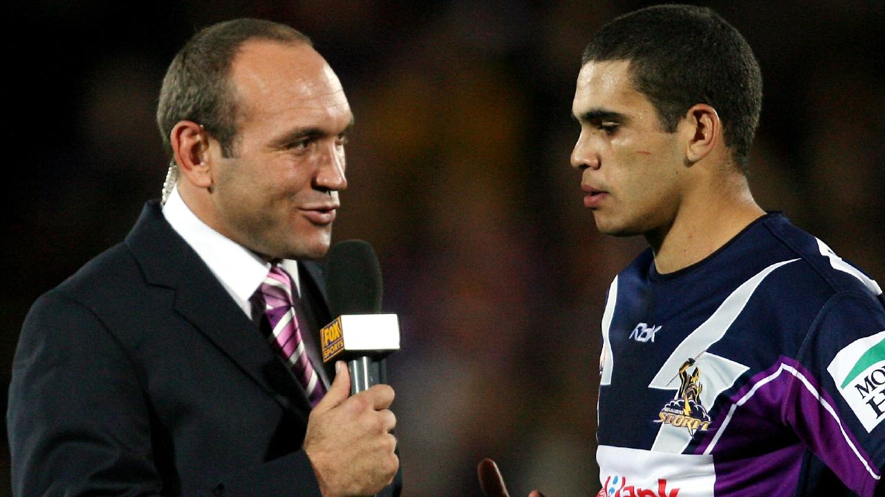 Gorden Tallis with a young Greg Inglis in 2006. If not for a phone call from the Broncos legend the Storm superstar could have played for Brisbane.