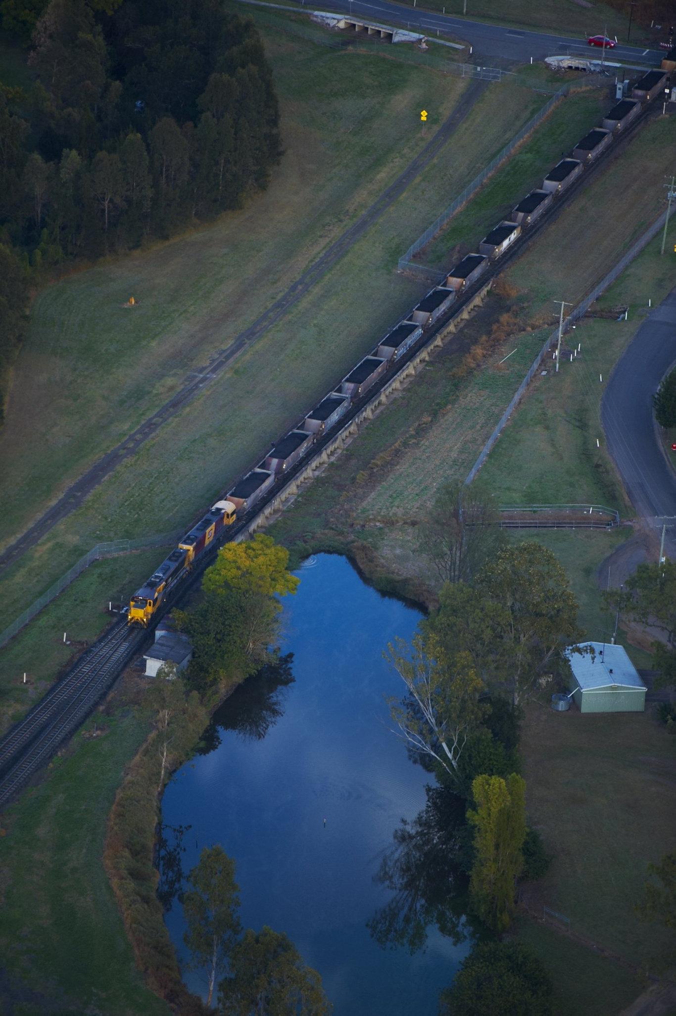 Aurizon coal train at Gatton.
