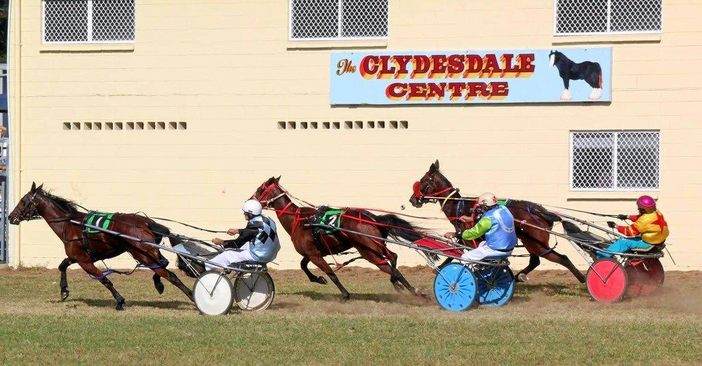 RACING FORWARD: Maclean's picturesque showground is a perfect place for competitions. (Inset) Show President: Brian Ferrie