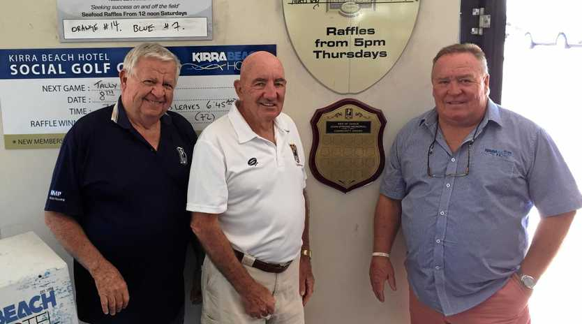 CHARITY LUNCH: Tom Cassin, Graham Callaghan and Greg Hodge from the Tweed Men of League.