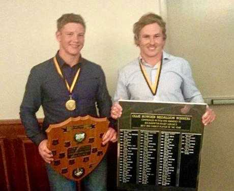 The Grant brothers have collected a number of accolades on their rugby league journey. In 2015, Harry (left) won the under-18 Player of the Year and George was named the Ollie Howden Medal winner for best senior player.