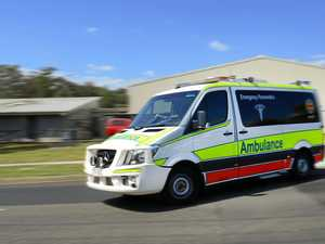 Warrego Highway crash lands man in hospital