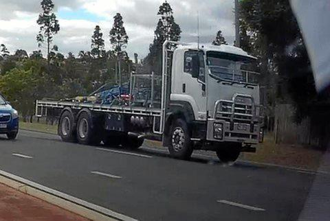 INFORMATION NEEDED: Police believe a white FZ Isuzu truck may have been involved in some way, and are calling for the driver to come forward to assist police with enquiries.