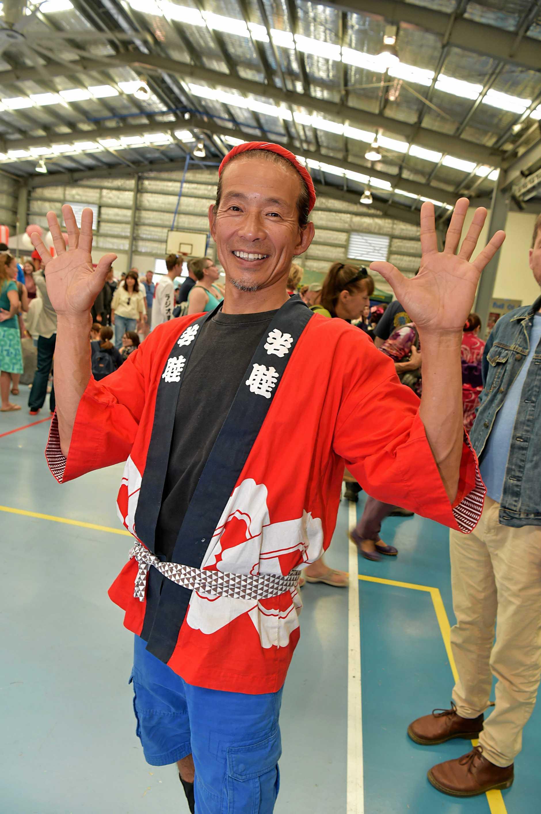 Japan Festival held at the Currimundi State School.Genta Tsukimori