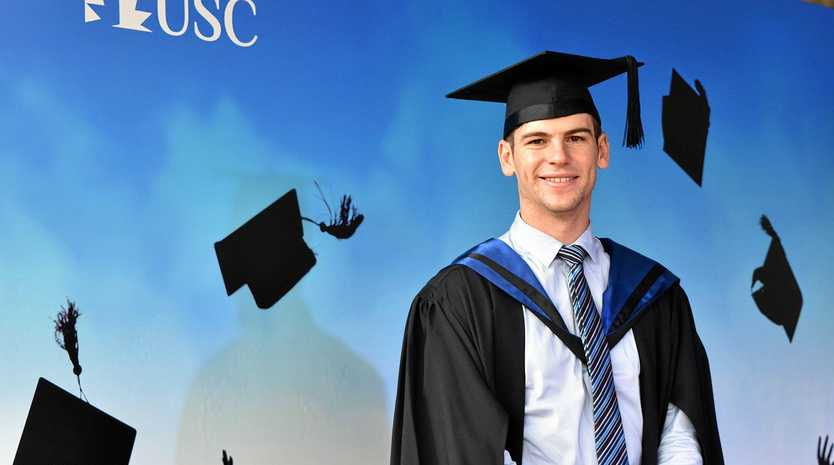 ON THE CASE: Gympie university graduate Callum Lee has continued his family's success story at USC.